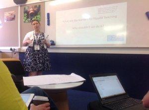 Me presenting