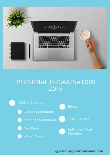 Personal organisation for 2018
